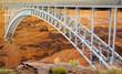 Bridge in the Glen Canyon over the Colorado River in Arizona