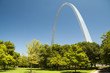 Gateway Arch and trees in the Jefferson Nation, St. Louis