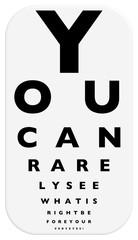 fun eye chart illustration