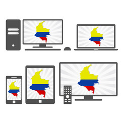 Electronic devices with the map of Colombian