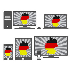 Electronic devices with the map of germany