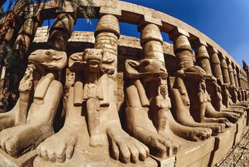 Egypt, Luxor, Karnak Temple ruins - FILM SCAN
