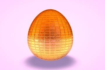 Orange Tile Etched Dyed Egg
