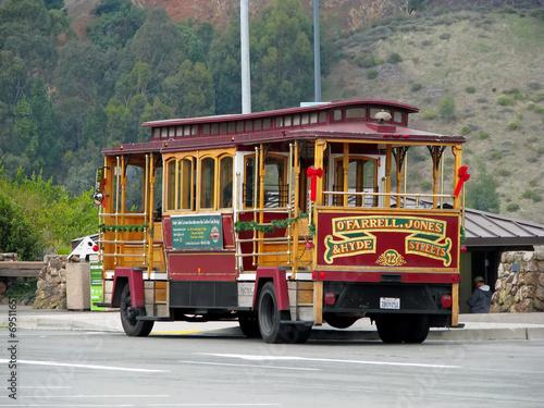 Cable Car parked at Golden Gate Bridge