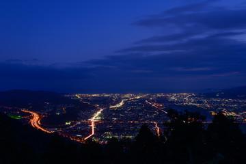 Landscape in the twilight at Seisho region, Kanagawa, Japan