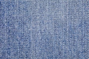 Close - up blue denim jeans detail