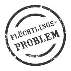 sk52 - StempelGrafik Rund - Flüchtlingsproblem - g1472
