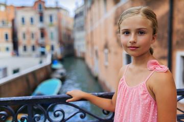 Portrait of girl in Venice, Italy