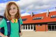 Back to school - portrait of  young schoolgirl