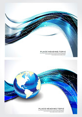 Abstrct Wave Background Set