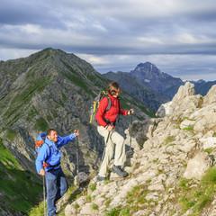 steiler Anstieg zum Gipfel