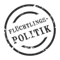 sk62 - StempelGrafik Rund - Flüchtlingspolitik - g1482