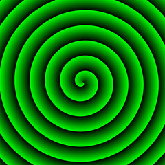 Green Hypnotic Background