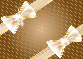 festive background with ribbon