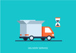 Flat style vector illustration delivery service truck shipping - 69519017