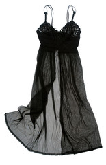 black silk peignoir