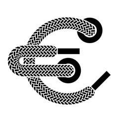 vector shoe lace euro symbol
