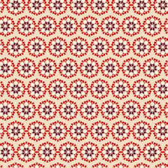 Vintage Seamless pattern  on beige background