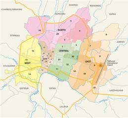 Kathmandu Karte