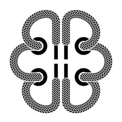 vector shoe lace brain symbol