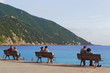 canvas print picture - Relaxen in Camogli