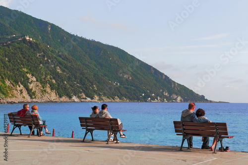 canvas print picture Relaxen in Camogli