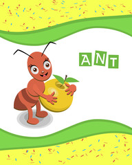 Ant from the collection of alphabet animals