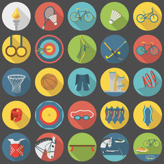 Summer olympic sports flat icon set part 2