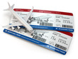 Boarding pass. Tickets and airplane. - 69521296