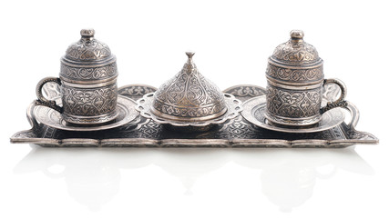 Traditional turkish coffee set