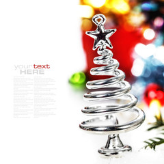 Silver stylized Christmas tree