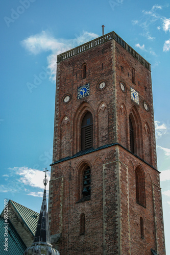 canvas print picture Kirchturm Ribe Dänemark