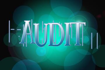 Audit word on vintage bokeh background, concept sign
