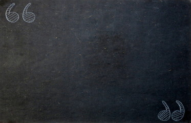 Blackboard Background with Quotation Marks in Chalk