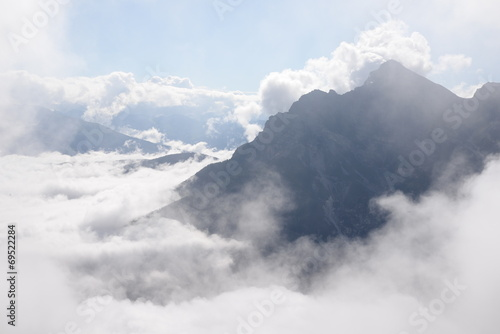 canvas print picture Wolken an der Serles