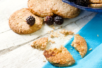 breakfast cookies with wild blackberries