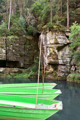 Gorges on river Kamenice, Hrensko, Czech republic