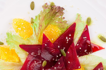 Close up of Beet Salad.