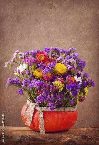 Foto op Canvas Lilac Autumn flowers