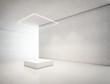 Leinwandbild Motiv presentation room with white empty podium