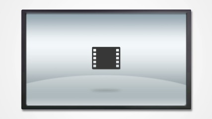 TV display with media icon HD