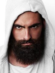 Portrait of bearded man