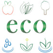 small set of environmental icons
