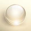 3D glass ball on light background