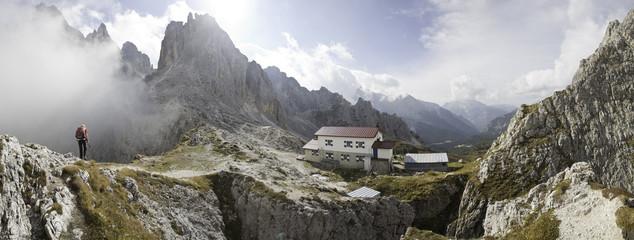 cadini gruppe in Südtirol mit fonda savoi Hütte