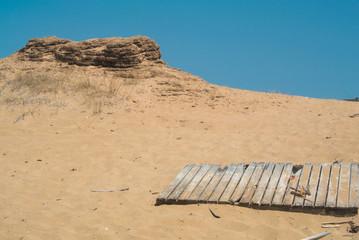Sand dunes in Issos Beah in Corfu Greece