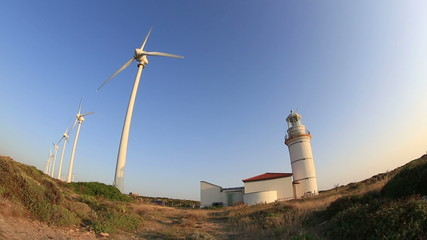 wind farm, green energy, wind turbines generating clean power