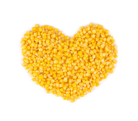 Heart made of corn.
