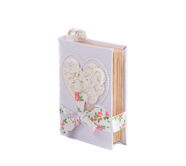 Diary with wedding gentle cover.