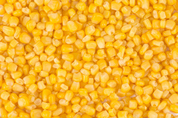 Tasty yellow grains of corn.